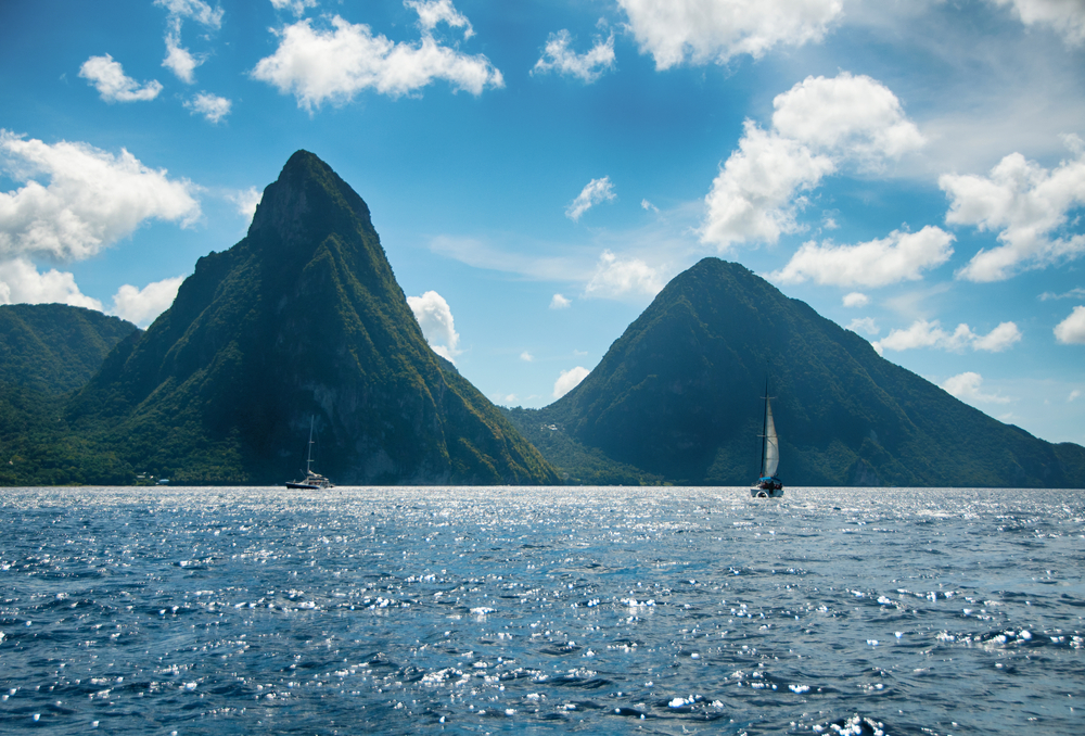 pitons in st lucia travel